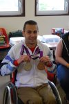 Matt with his Bronze and Silver medals from the 2012 Paralympic Games